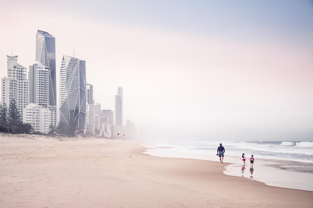seashore near buildings