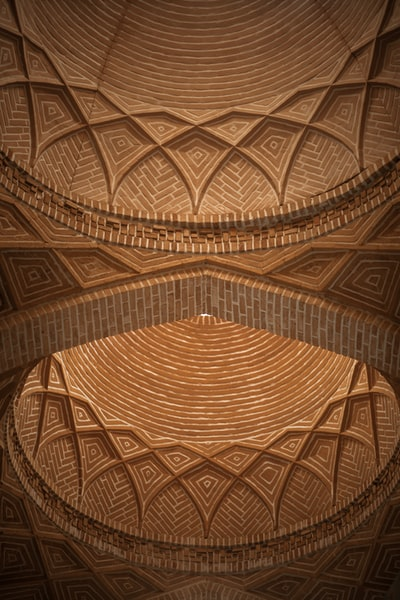 brown and beige ceiling with ceiling