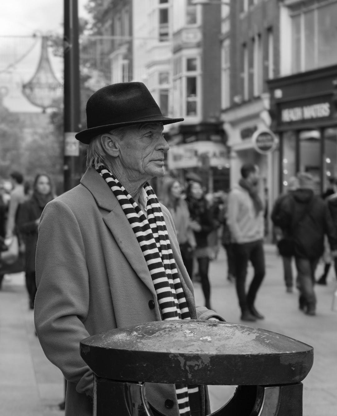 Dress to impress. An image of a very slick looking gentlemen on Grafton Street, Dublin.