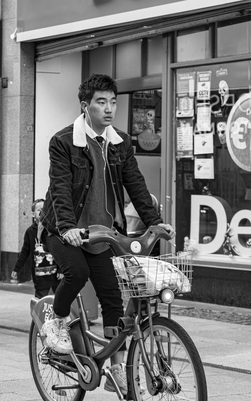 man on bike in street