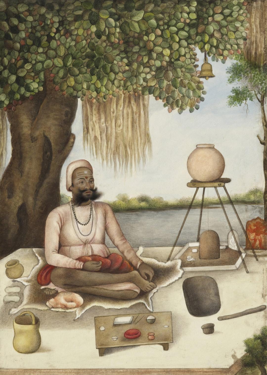 Tribes and Castes of India. 'Sannyasi' a Saiva mendicant. Circa 1825