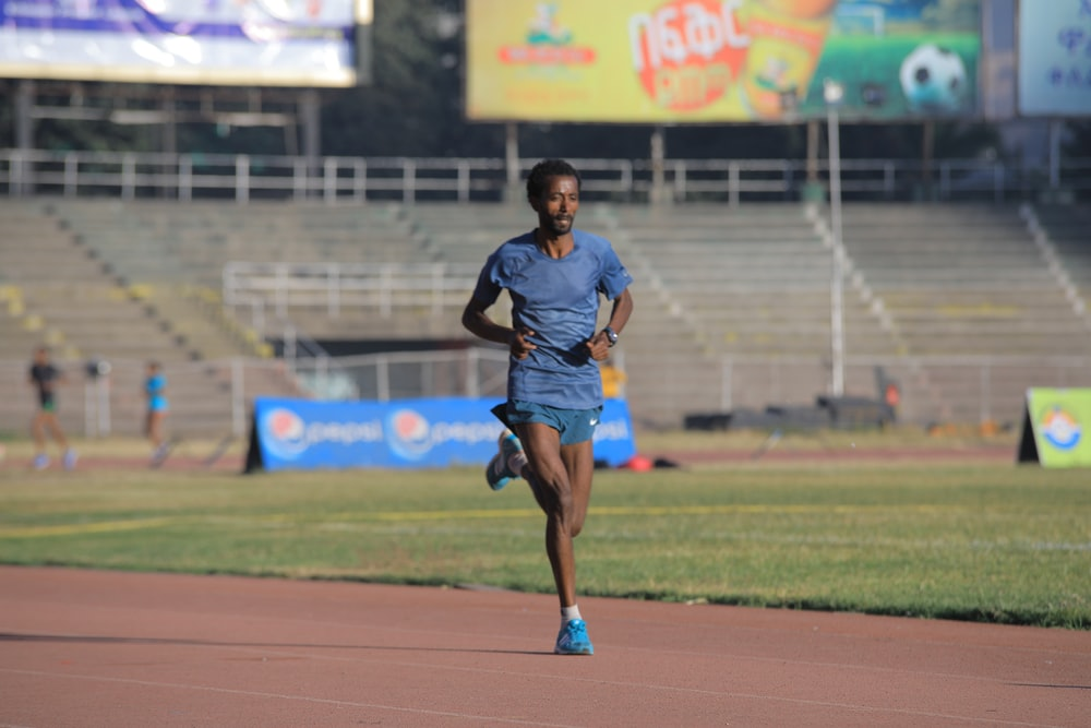 man running on the field