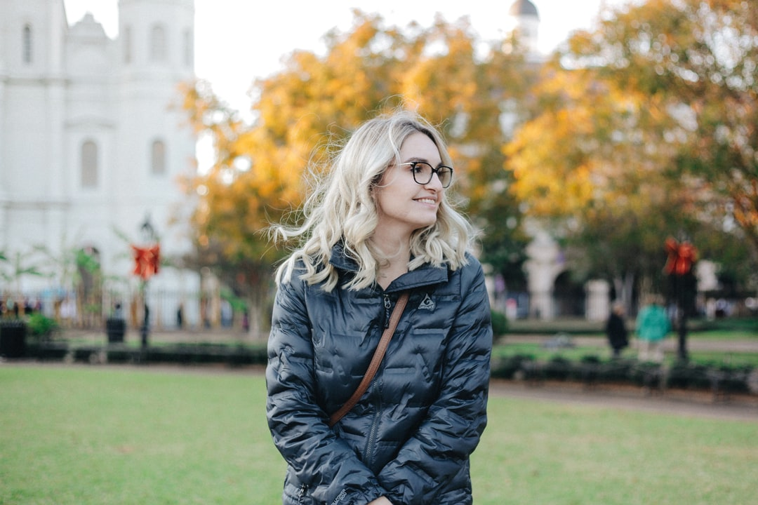 Portrait of my wife at sunset in the Jackson Square in New Orleans.