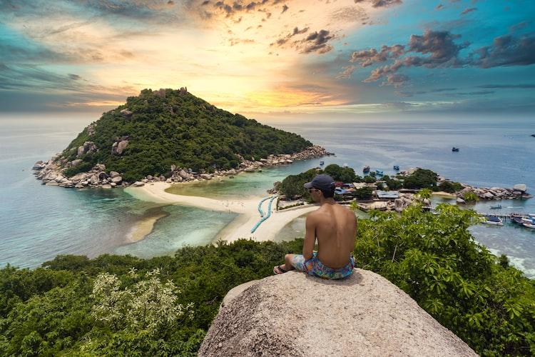 Hike point view at Koh Nang Yuan
