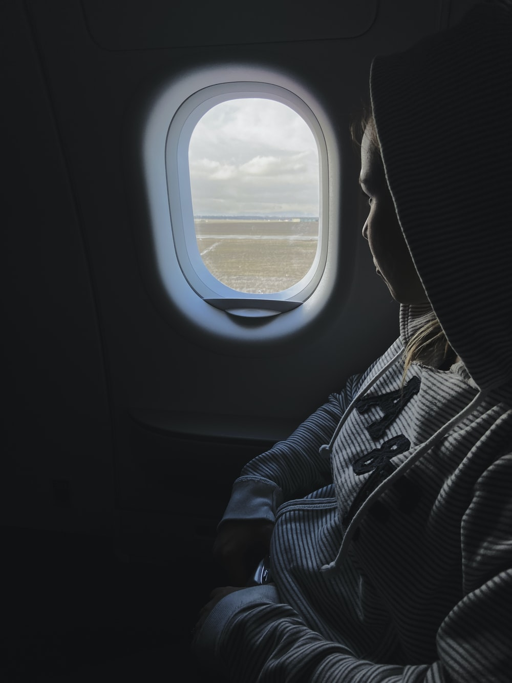 person riding airplane