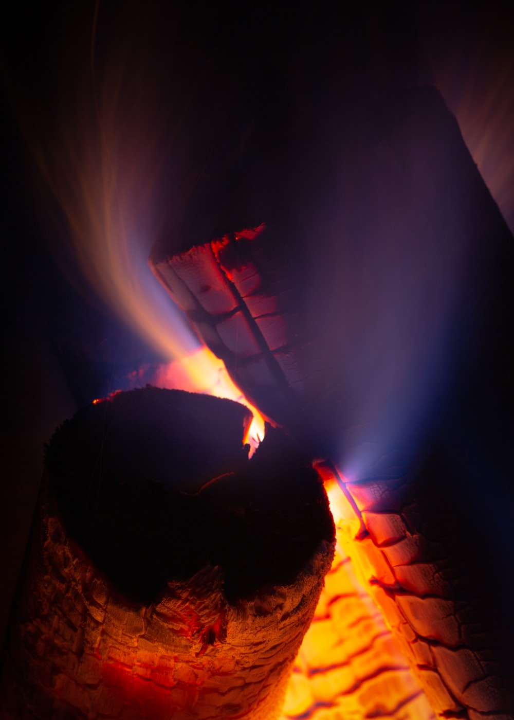time-lapse photography of burning charcoal