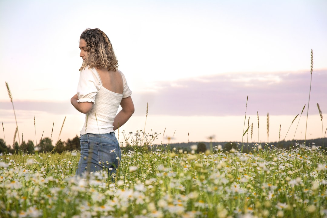 On a field of flowers