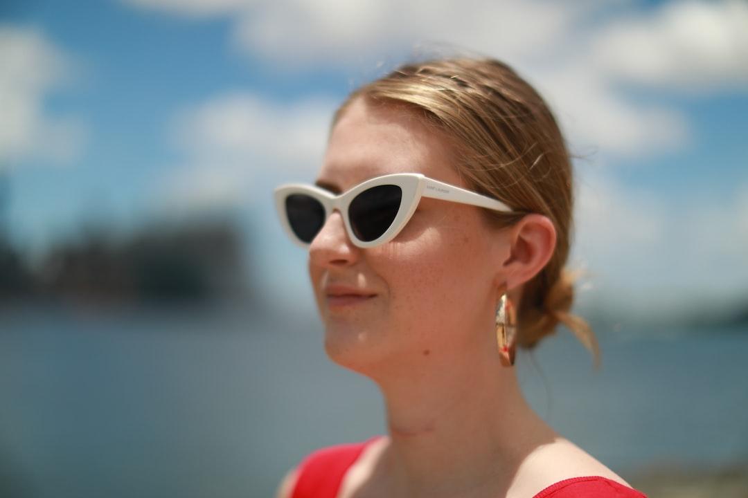 Girl wearing sunglasses in Hawaii.