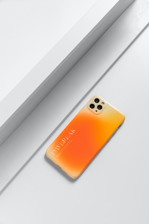 orange and black iphone case