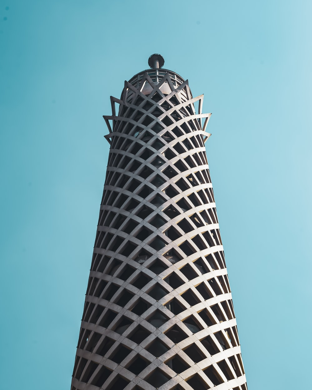 black and white tower under blue sky