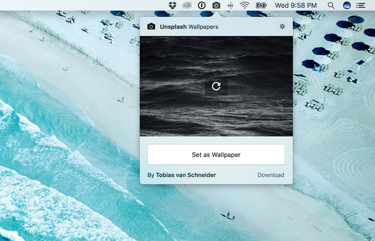 <p>A simple, free app to turn your Mac desktop background into a rotating gallery of stunning HD photography from the Unsplash community.</p>
