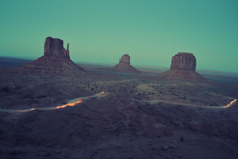 brown desert mountains during daytime