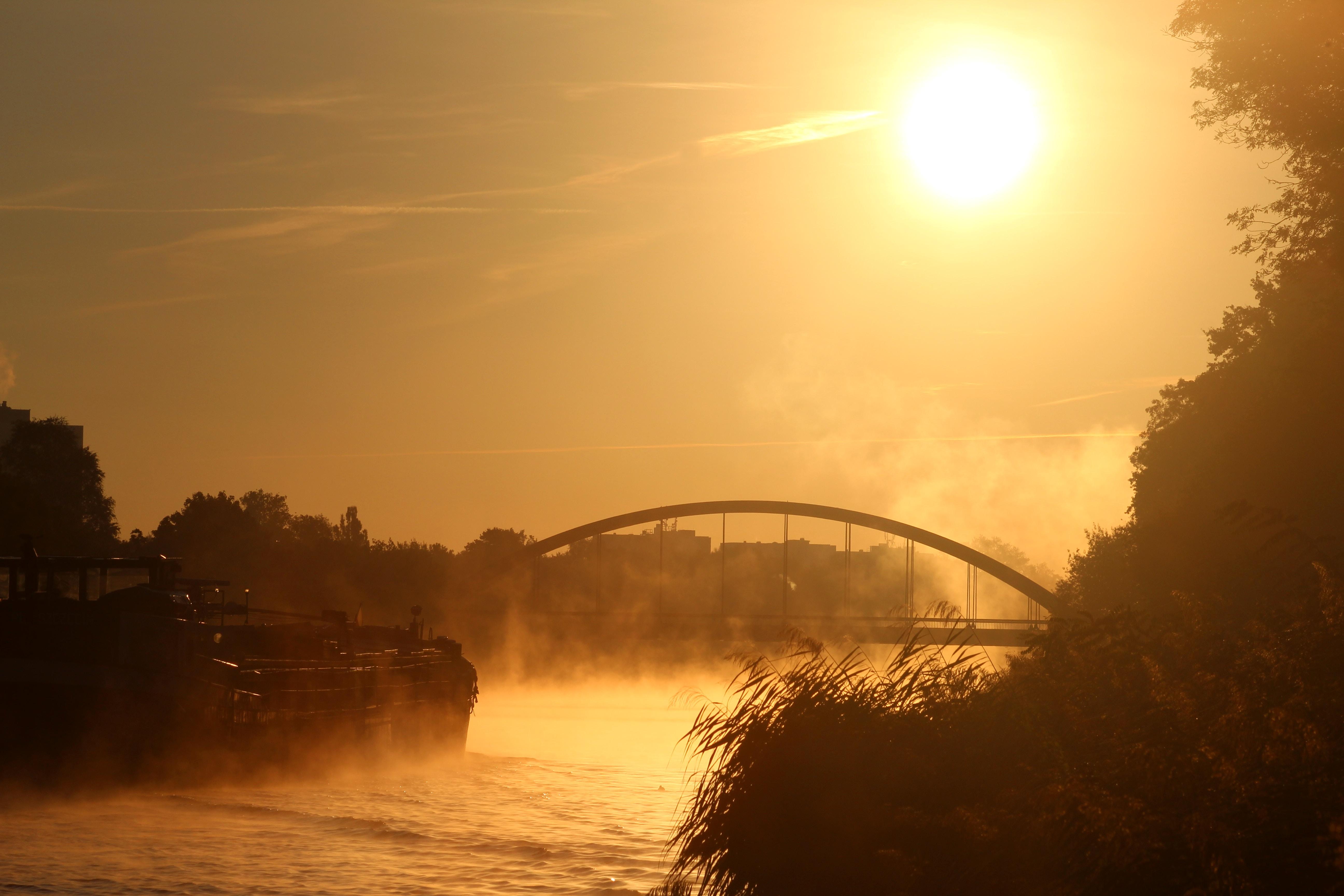 bridge across body of water