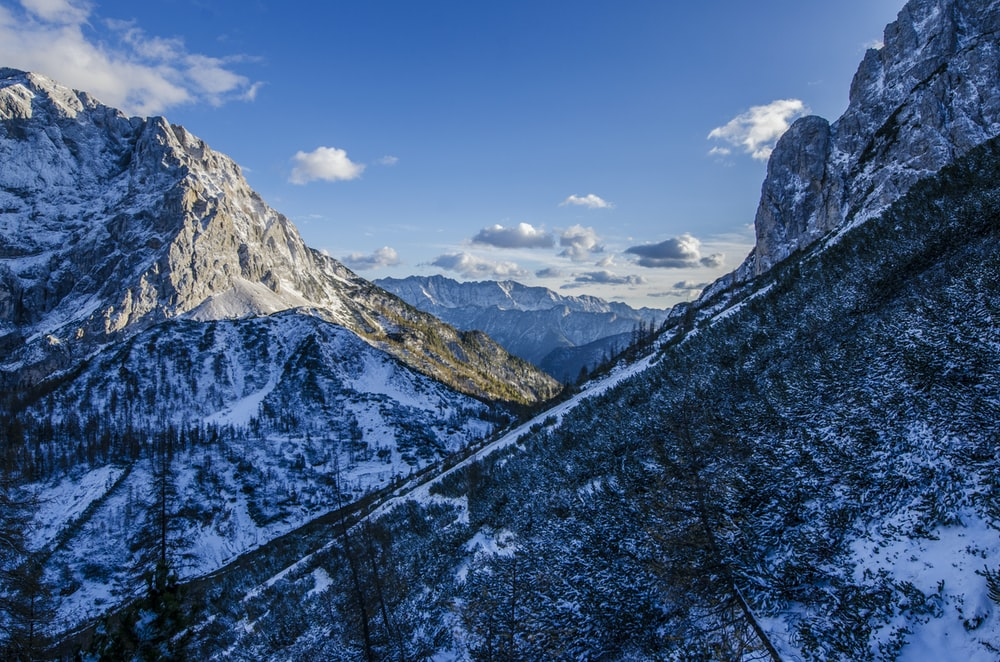 icy mountain photography
