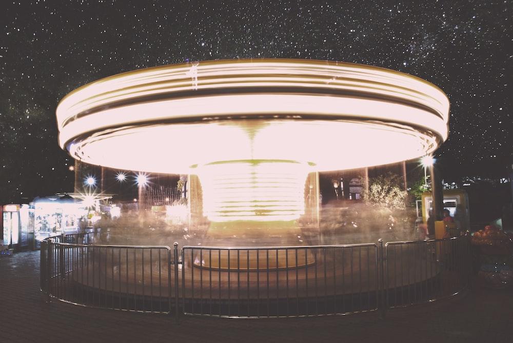 closeup photo of carousel