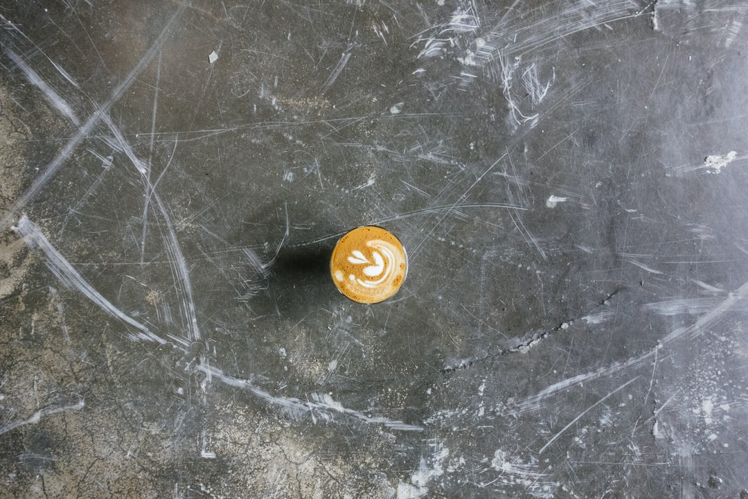Coffee on a concrete surface