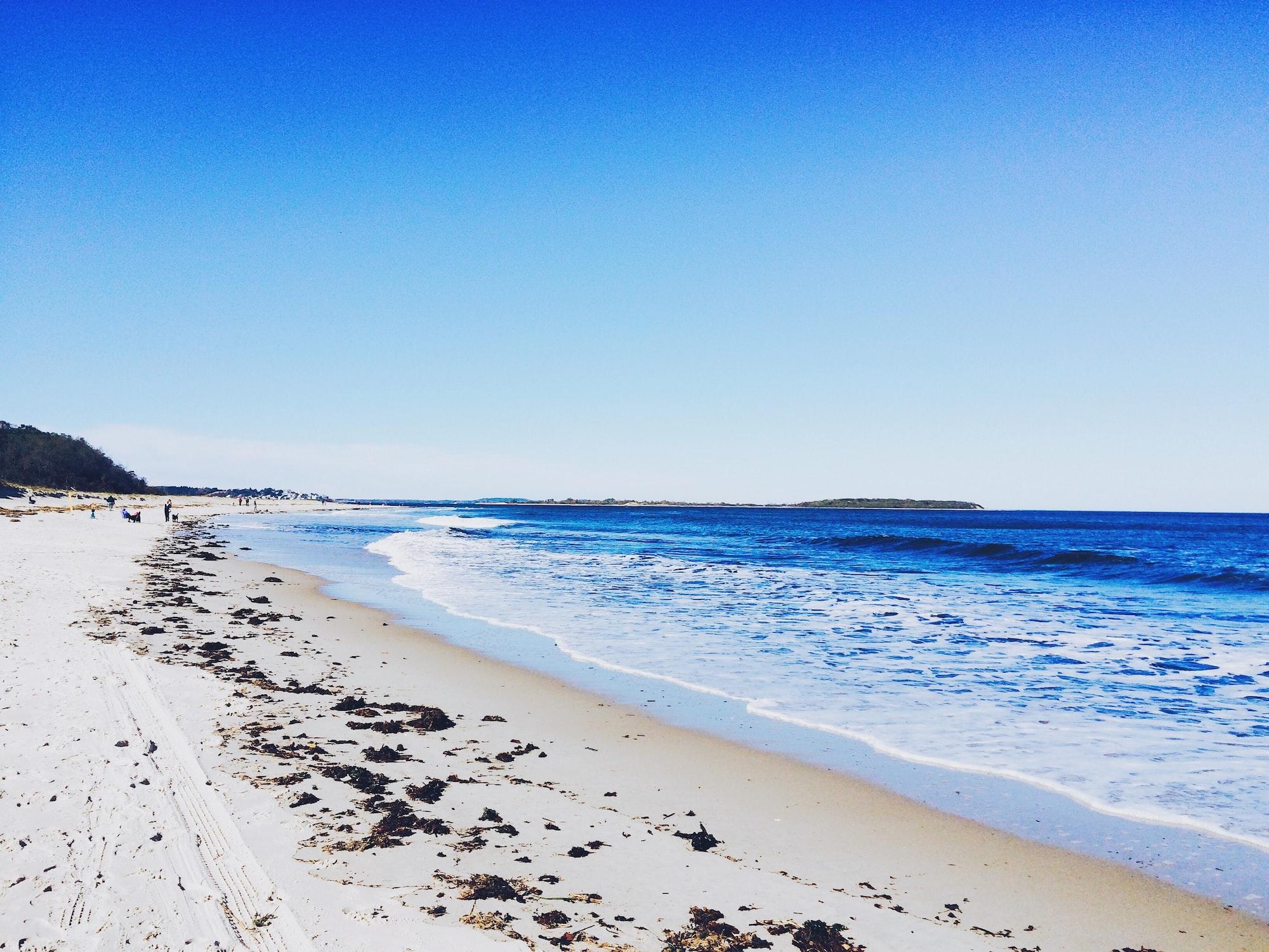 Horizon view from beach