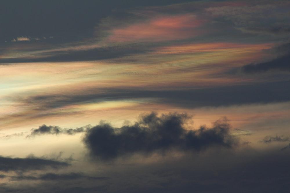 orange sky and black clouds