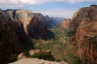 Green valley in the canyon