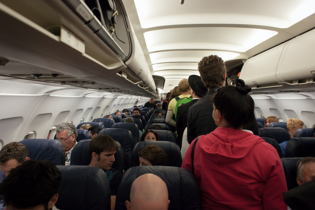 group of people in airliner