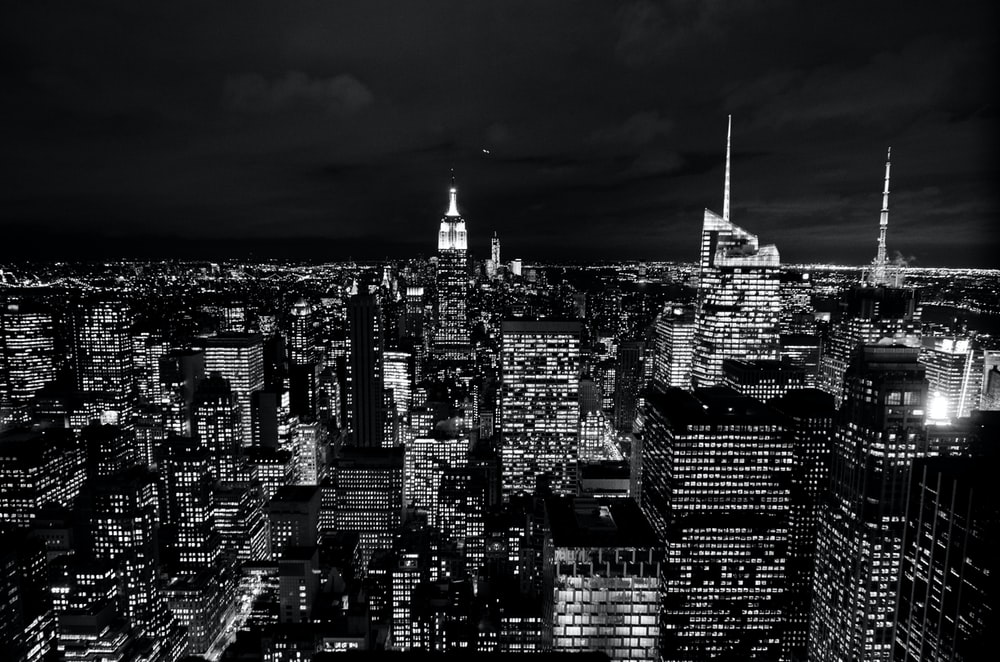 Nyc Skyline Night Pictures Download Free Images On Unsplash