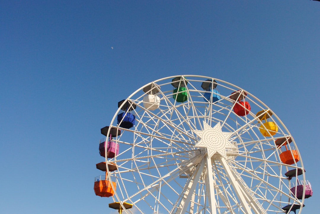 Tibidabo rainbow Ferris wheel