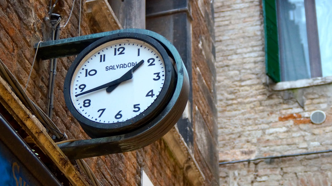 Round clock brick building