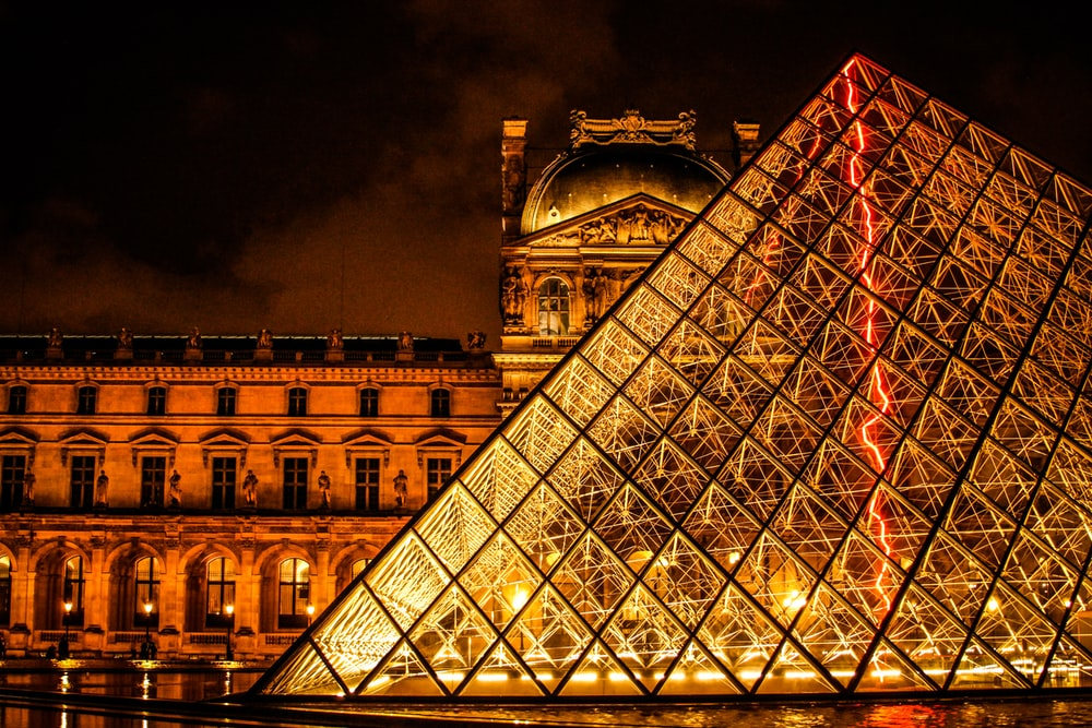 low angle photography of louvre museum Paris