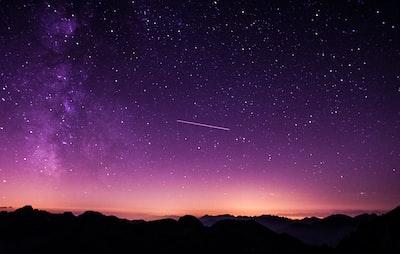 Sublime purple night sky