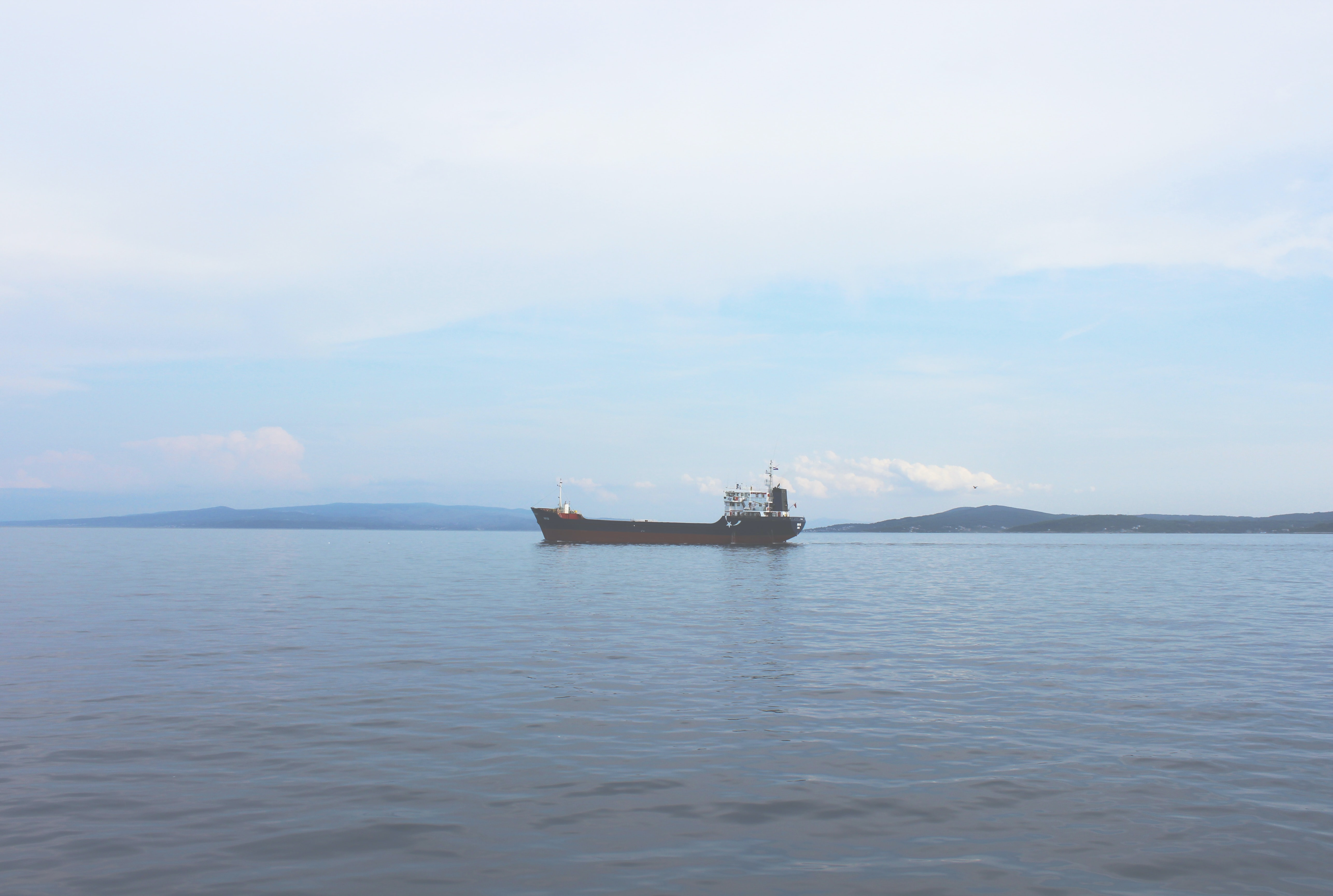 vessel on sea