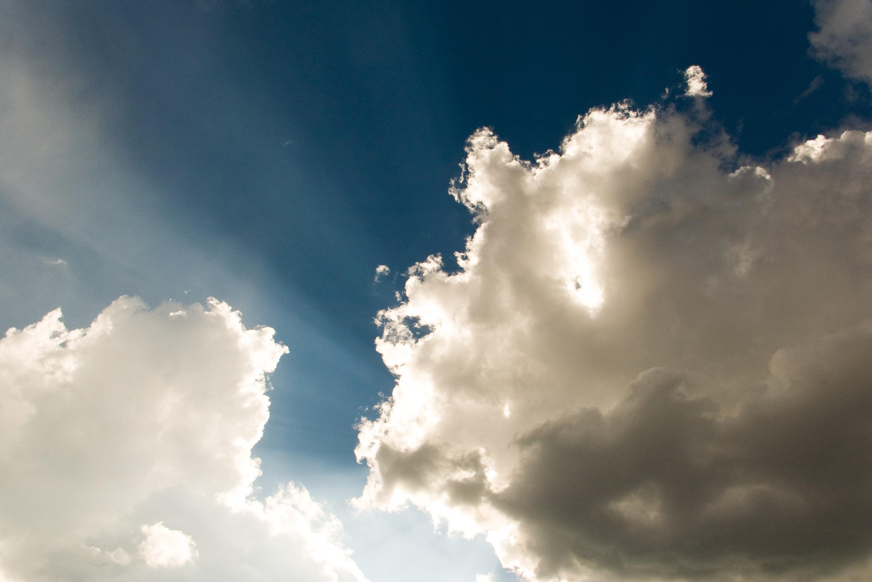 cumulus clouds taken during daytime