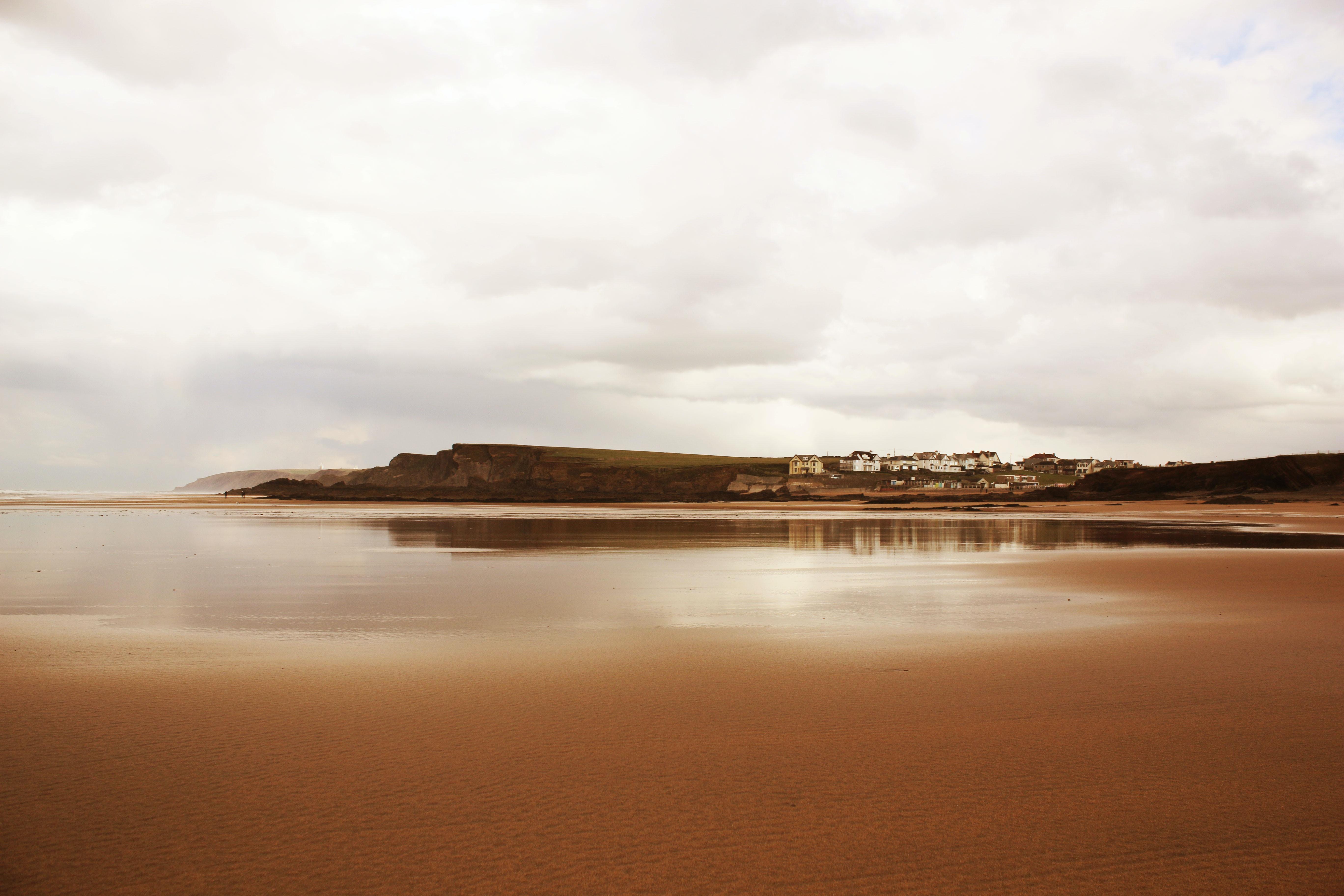 sea shore near island