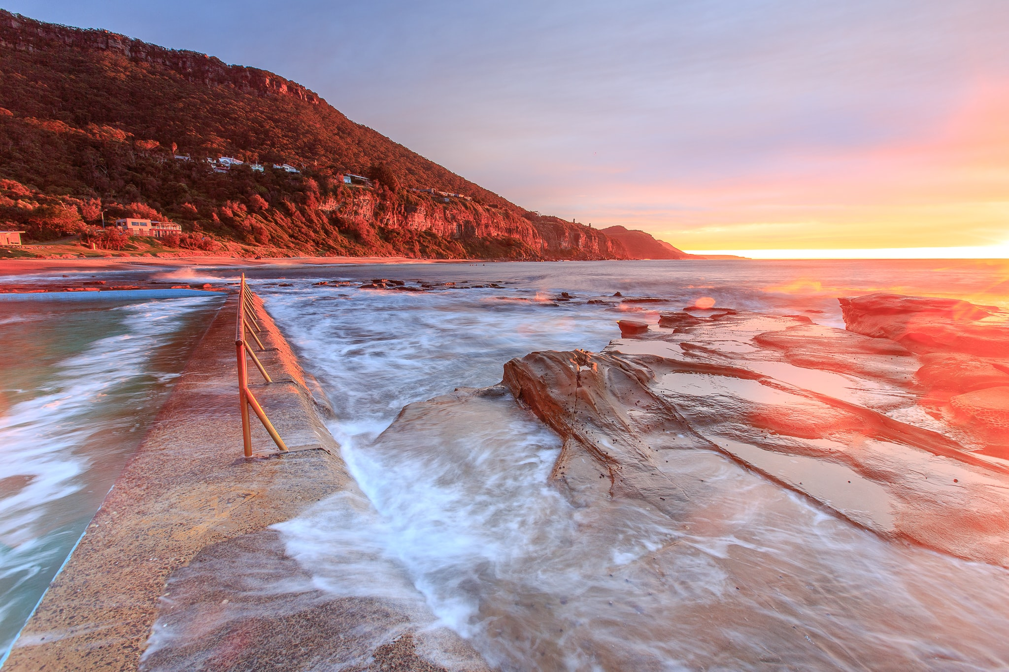 time lapse photography of seashore