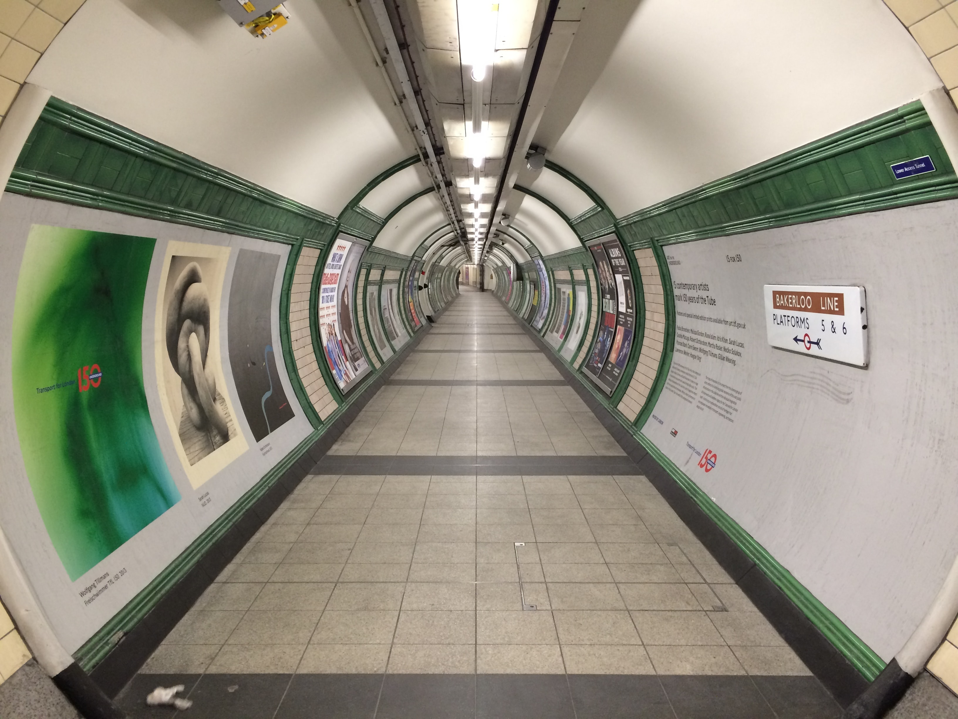 The tunnel to the Bakerloo line in the London Underground