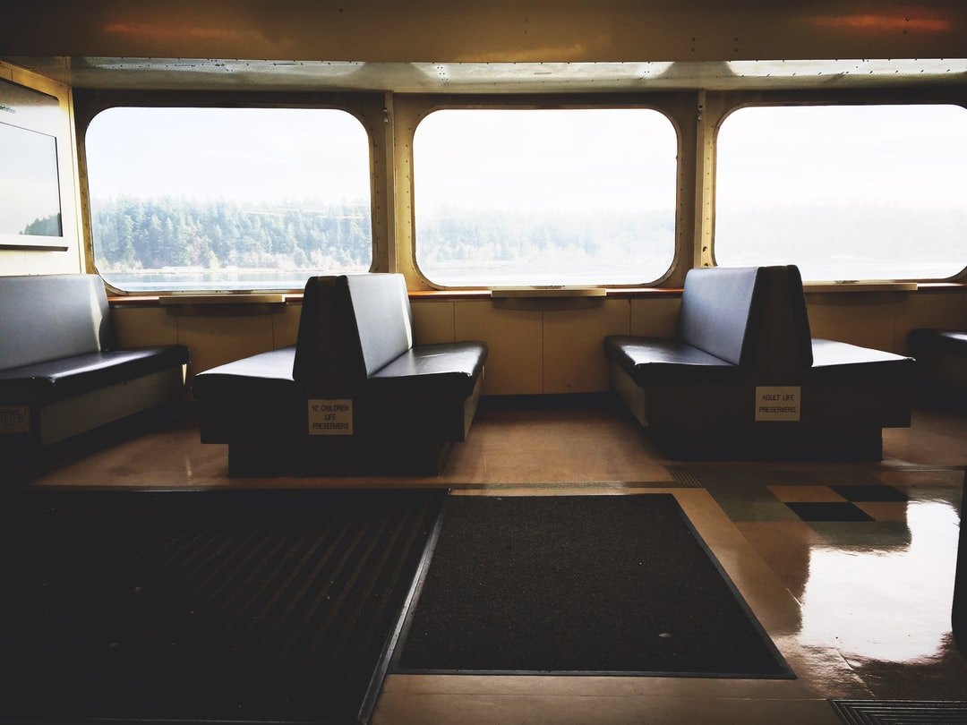 Ferry interior with chairs