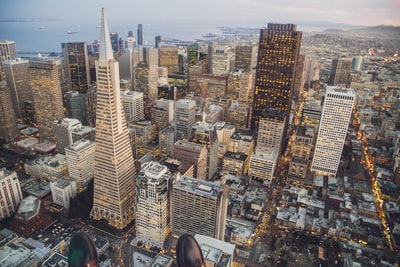 aerial view of city during daytime san francisco teams background