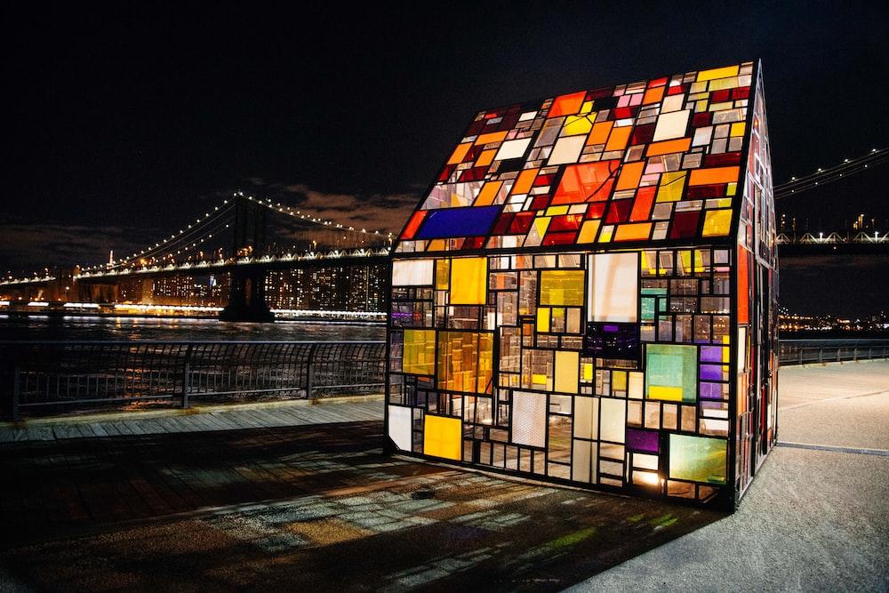 multicolored mosaic hpuse