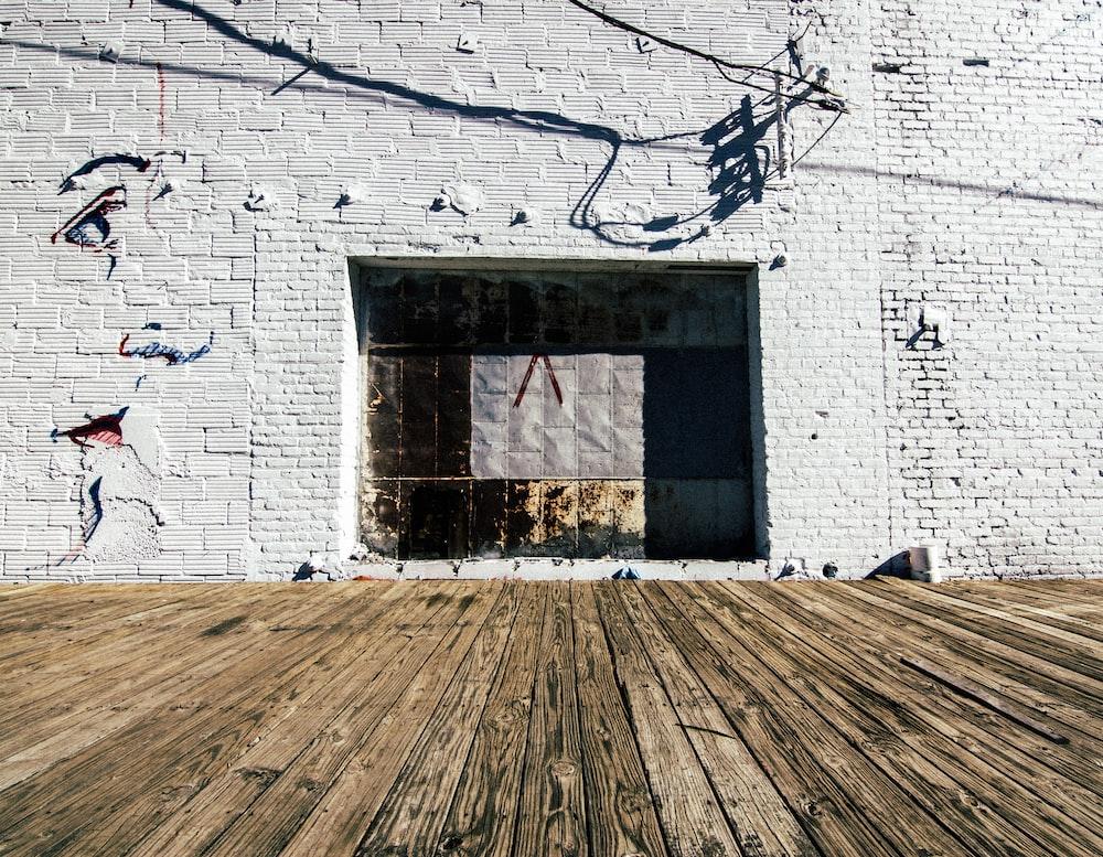 black and brown brick wall
