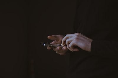 man on a smartphone