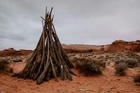 landscape photography of bonfire