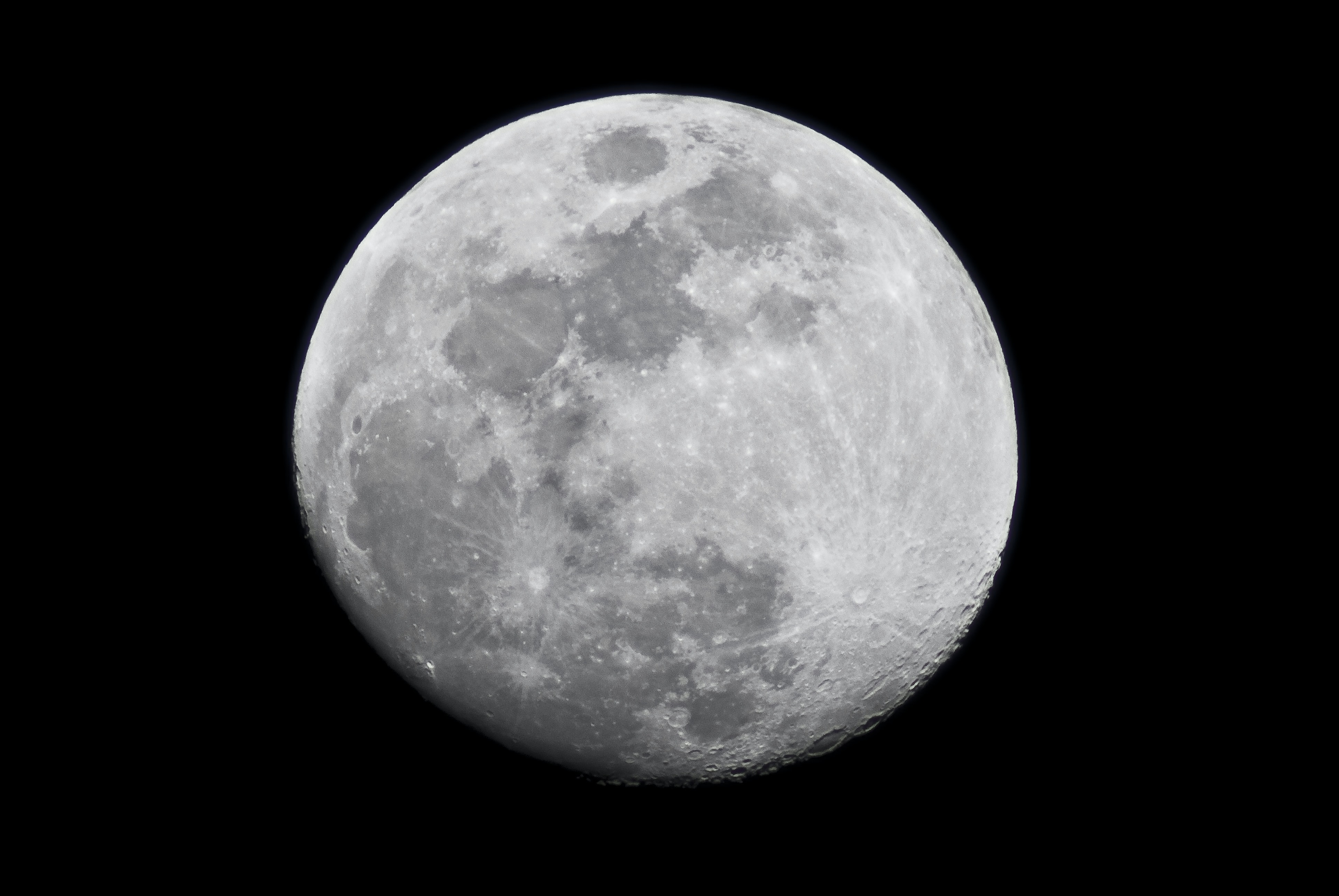 The moon and craters