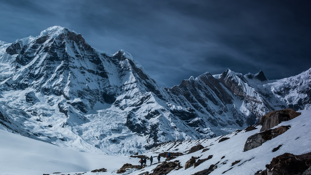 landscape photography of mountains during winter