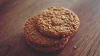 close up photo of three cookies
