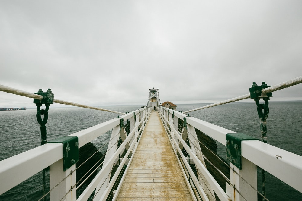 white and brown bridge