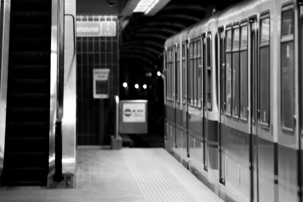 train close-up photography