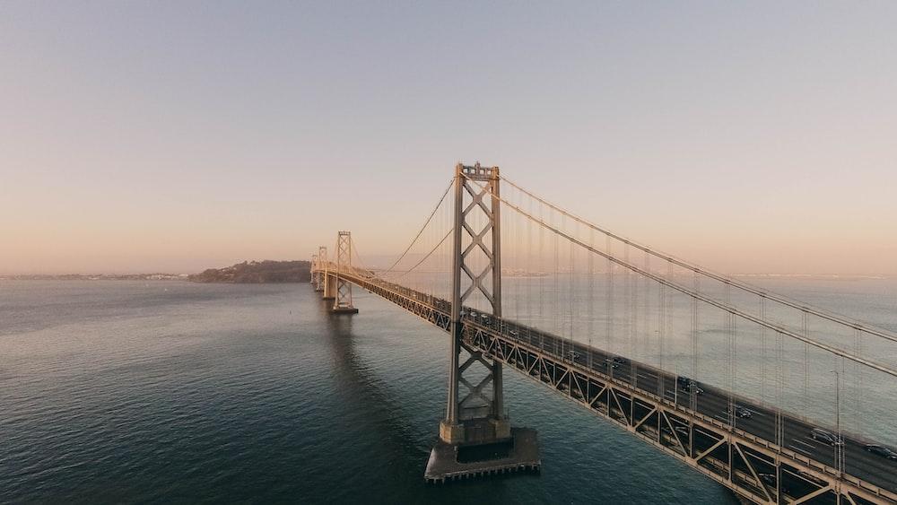 bridge extension under blue sky