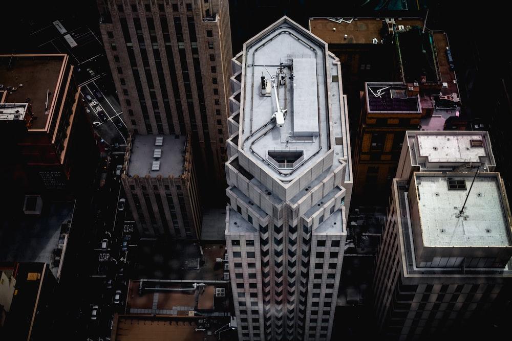 bird's eye photography of building