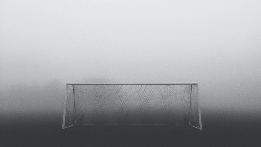 white soccer net