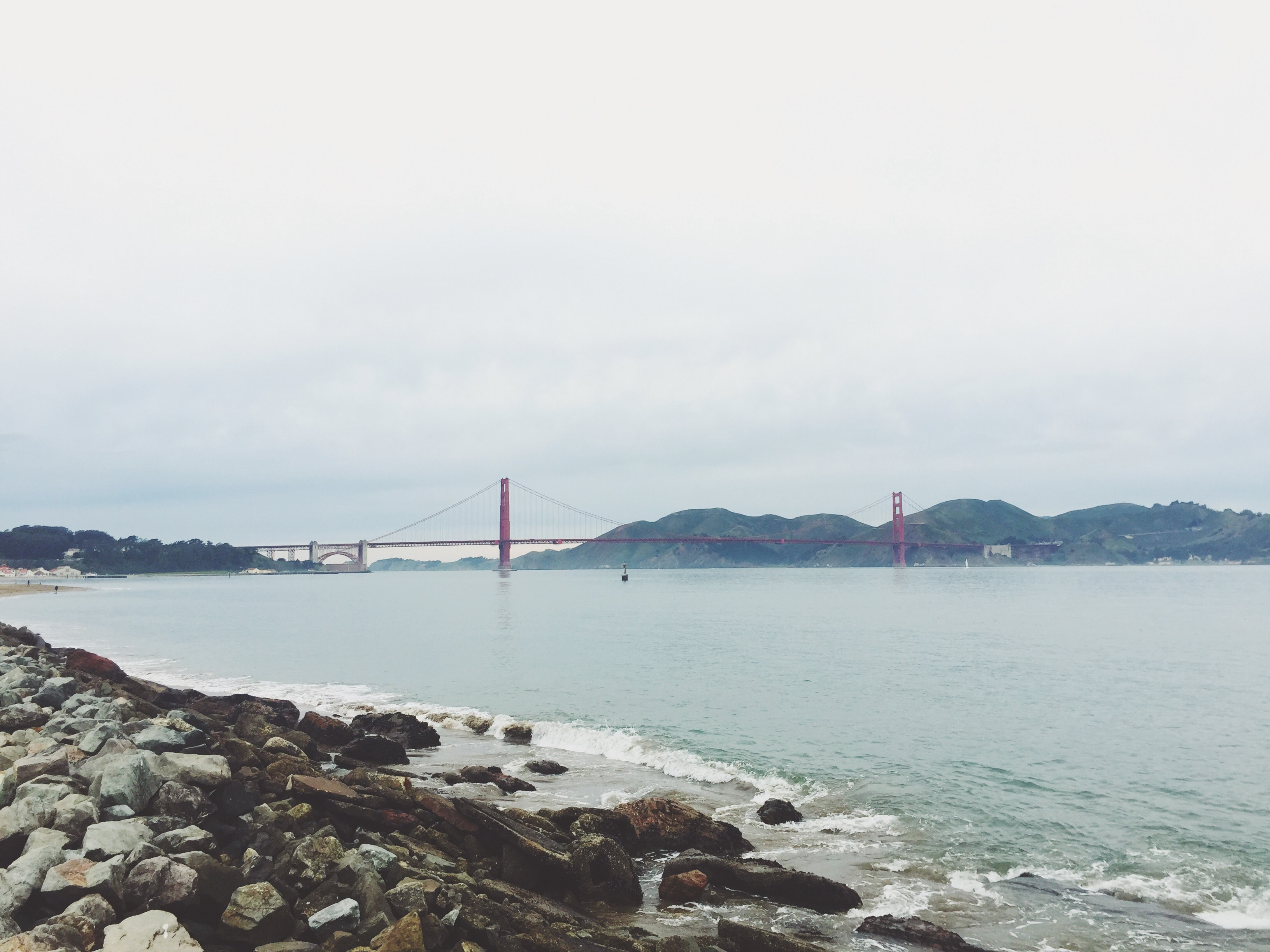 shore view of Golden Gate Bridge, San Francisco during day