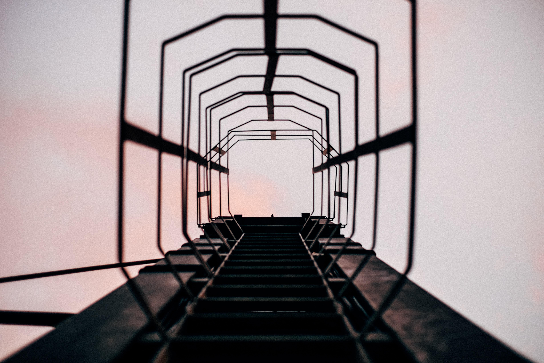 black steel tunnel at daytime